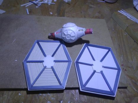 WIP tie Fighter Scratch Building by tulioroberto
