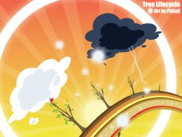 Tree lifecycle Wallpaper by PlutaX