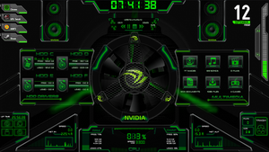 ASUS ROG RAINMETER (Edited to NVIDIA) by BigHeadLover