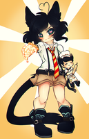 Pizza Anime by miulk