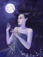 Goddess of Night by FaeryAzarelle