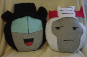 Prowl and Jazz Pillow by SilverPhantom