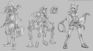 Character sketch by JinkiMania