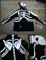 Tyshea's Skeleton Hoodie by MinorTechnicality