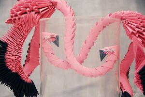 flamingos for a game of golf by Zver-Le