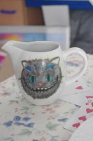 Cheshire Cat Milk Pot by LucyLostInWonderland