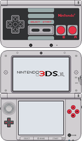 Nintendo 3DS XL [NES] by BLUEamnesiac