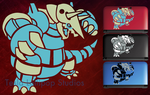 Pokemon Aggron 2 colors 3ds Decal by TeslaLollipop