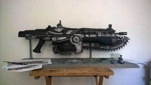 Custom gears of war lancer by CaptainOates08