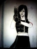 Tifa FFVII - charcoal by choong-ie
