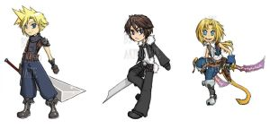 Dissidia Chibis by akiwitch