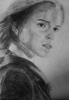 A drawing of Emma Watson as Hermione Granger. by JaedinAlways