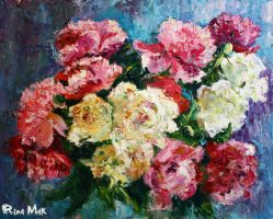 Bouquet of peonies by Rinamak