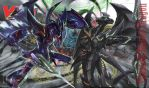 Cardfight!! Vanguard Mat - Phantom Blaster Dragon by DragonTamer256