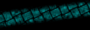 Weaving The Matrix Blue 5760x1080 by crackruckles