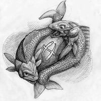 Pisces Tattoo Design by darrian94