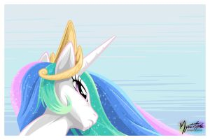 Princess Celestia Looking Up by mysticalpha
