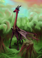 Giraffe Dragon by miirgan