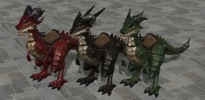 'Land of Chaos: Online' Dragons pack XPS ONLY!!! by lezisell