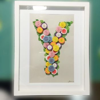 Paper Art Letter Initial by clarenceyao