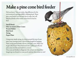 Make a Pine Cone Bird Feeder by UrsusArctos