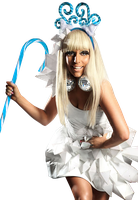 Lady Gaga Christmas Tree png blue by seguricarl