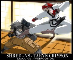 Taryn's Comm: Taryn vs Shred by ShoNuff44