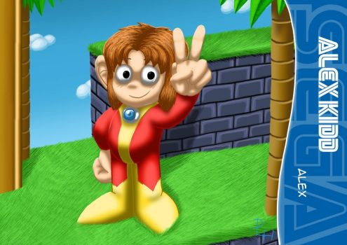 Alex Kidd by Dex-la-Cabra