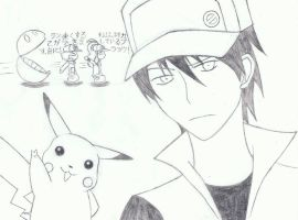 Pokemon Black Red and White by MunaDrawsOn