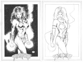 Starfire_before + after by MichaelBair