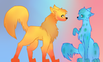 Fire and Ice dogs by vulpix15