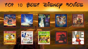 Top 10 Favorite Disney Movies by Jdailey1991