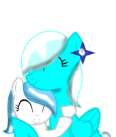 ::REQUEST:: IceStar And Elisa Hugging by NatalkaPony