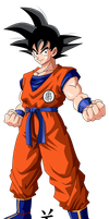 Goku Early by jeanpaul007