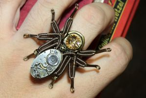 Steampunk spider Ring by CatherinetteRings