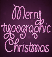 Typographic Christmas by LosingSarah
