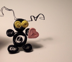 Shadow Heartless Quilling by Wahm-bulence