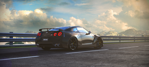 Nissan GTR mountains by ColdFusion20