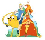 Finn, Jake and Flame Princess by EatinIce