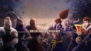 Twitch Banner for GoldenBlackHawk by RinTheYordle