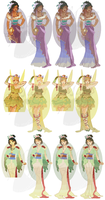 WIP2-Disney Mucha Patterns (Hannah-Alexander) SET2 by pinkythepink