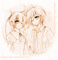 Miss Peach and Mister Apricot by DeYuri