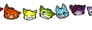 COLOUR CATS! by sealkisses