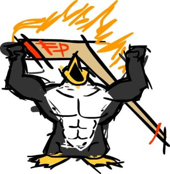 New Flaming Penguins logo by RandMHer08