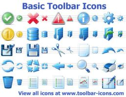 Einfache Toolbar Icons by Ikont