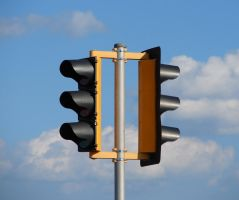 Traffic Lights in the Sky by FantasyStock