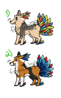 Plume Pups ADOPTS - CLOSED by foxnoot
