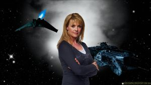 Amanda Tapping Queen of Sci Fi by Dave-Daring