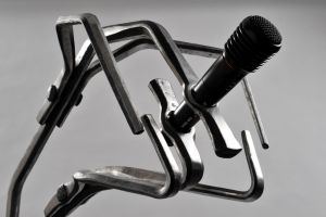 The Beast ( Forged Microphone stand) by Jbullbalcksmith