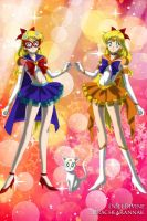 Eternal Sailor V and Eternal Sailor Venus by CartoonPrincess15